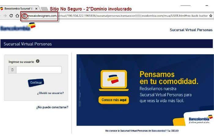 Cuidado ataques de bancolombia Phishing